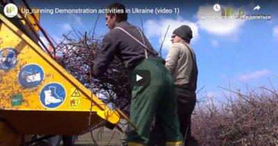 Демонстраційні проекти енергетичного використання біомаси від обрізки та видалення аграрних насаджень